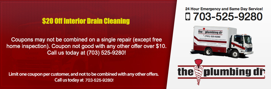 Discounts on Interior Drain Cleaning